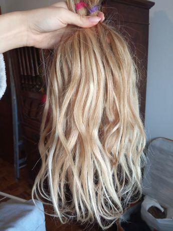 Extensões de cabelo humano 35 cm