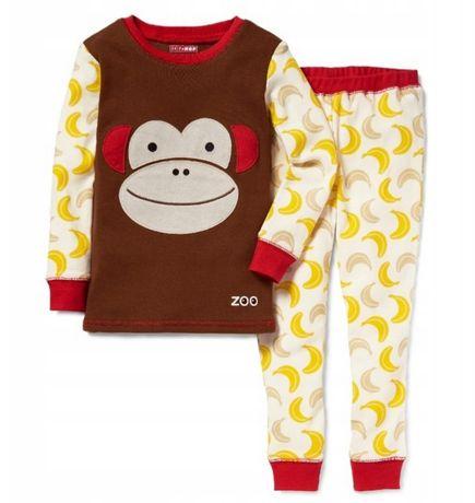 Piżama dziecięca skip hop 98 bawełniana małpka banany bluzka spodnie
