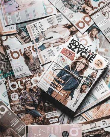 Gazety z wykrojami krawieckimi - Burda, Anna Moda Na Szycie