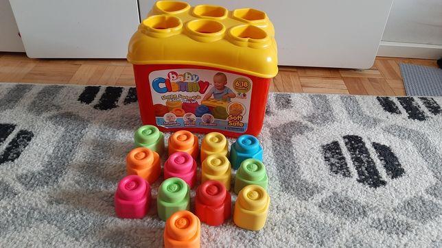 Klocki sorter Clemmy gumowe edukacyjna zabawka
