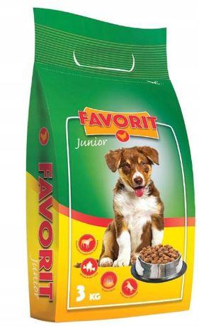 Favorit Pełnoporcjowa sucha karma dla szczeniaków z kurczakiem 3kg