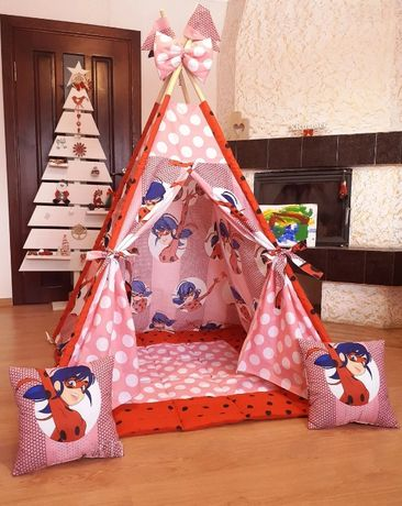 Вигвам детский палатка Леди Баг шалаш вігвам