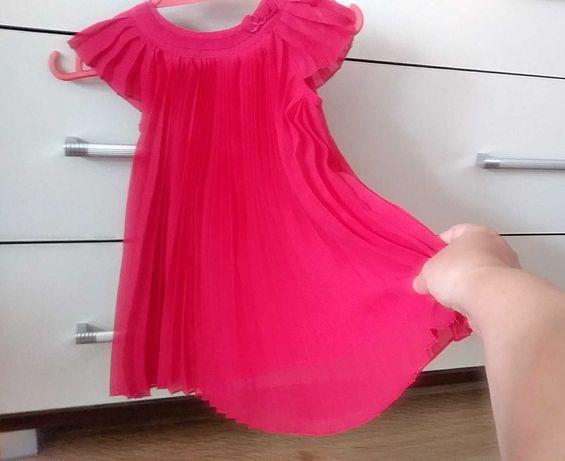 Śliczna zwiewna sukienka na lato 3-6/plisy/ piękna na sesję fotograf