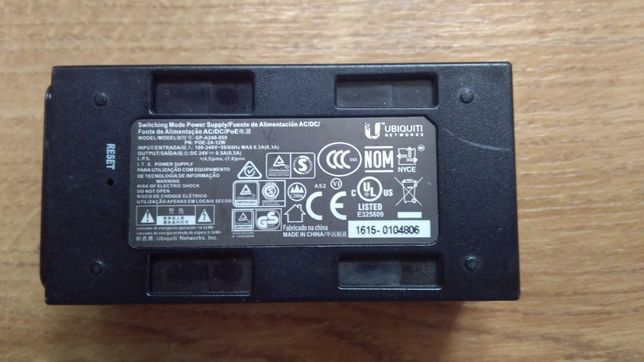 Poe адаптер блок живлення Ubiquiti 24в 0.5а
