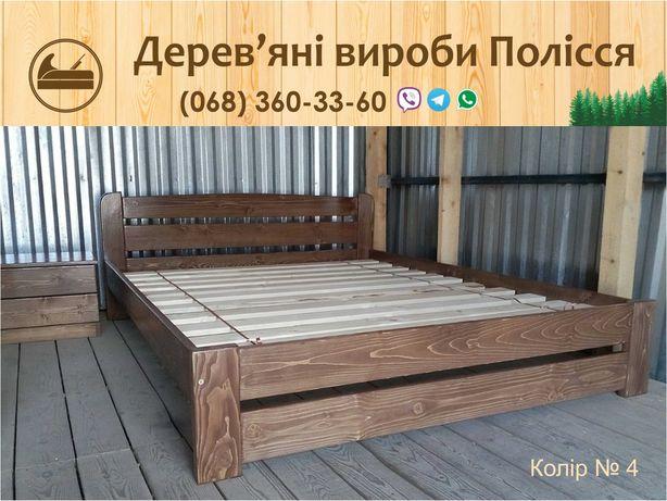Деревянная Двуспальная кровать Рольф-G4 160х200 цельный массив сосны