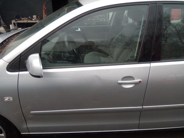 VW Polo 9n 02-08 - Drzwi przód przednie lewe kpl. LA7W EUR.