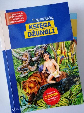 """Książka, lektura """"Księga Dżungli"""" z opracowaniem"""