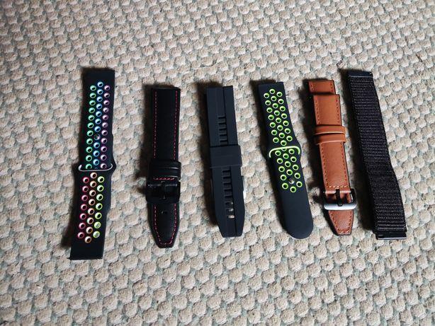 Braceletes para smartwatch de Silicone, Couro e Velcro - 22mm