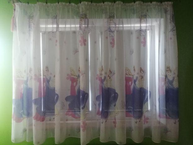 Firana z motywem księżniczek+gratis dywanik
