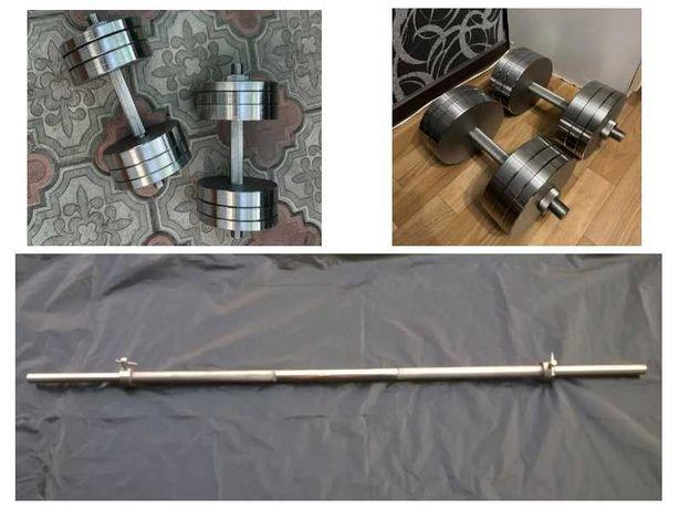 Гантели + Штанга от 40 - 120 кг ПРЕМИУМ КАЧЕСТВО