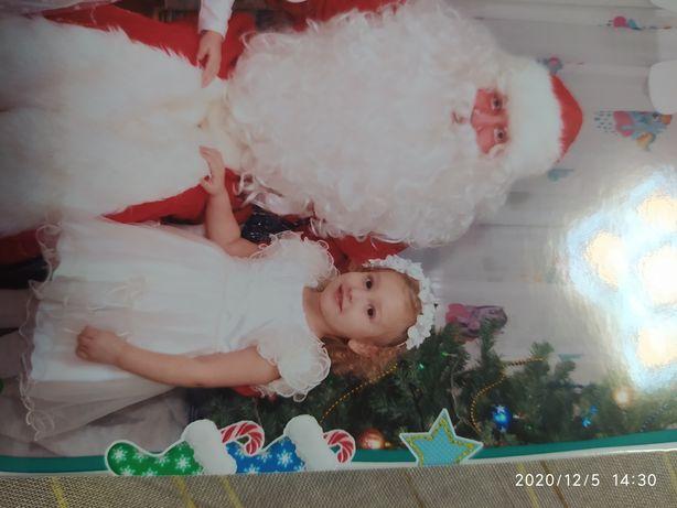 Платье снежинки, новогоднее нарядное