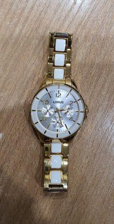 LORUS piękny damski złoty zegarek jak NOWY