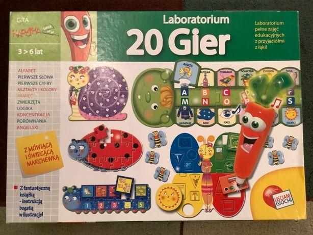 Laboratorium gier 20w1 alfabet cyfry kształty ang mówiąca Marchewka