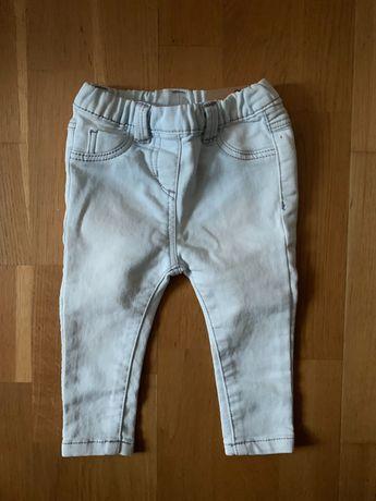 Prenatal - jeansy niemowlęce skinny fit r. 68