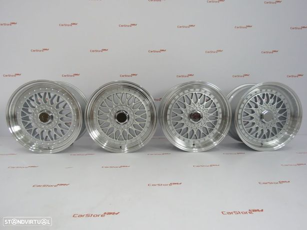 Jantes Look BBS RS 17 x 7.5 + 8.5 et 35 4x100+108 Silver