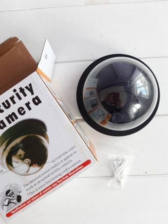 Муляж камеры видеонаблюдения обманка капля Security 6688 с светодиодом