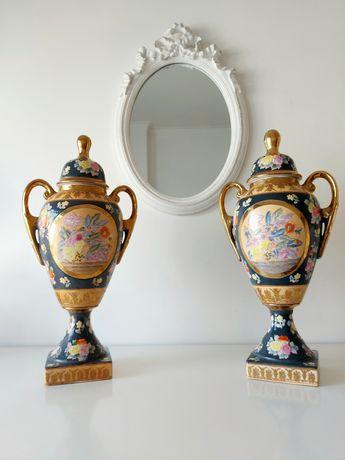 Par de Ânforas Orientais em Porcelana Chinesa 50cm de Altura - Séc. XX