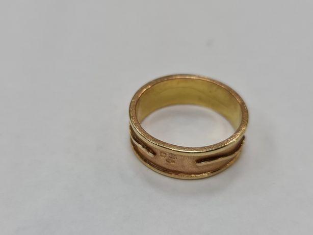 Wyjątkowa złota obrączka damska / Żółte złoto/ 4.84 gram/ R17/ 585