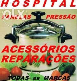 """Panelas de pressão """" Reparações e Acessórios """""""