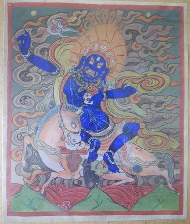 Tanka miniaturowa Palden Lhamo. 19 wiek