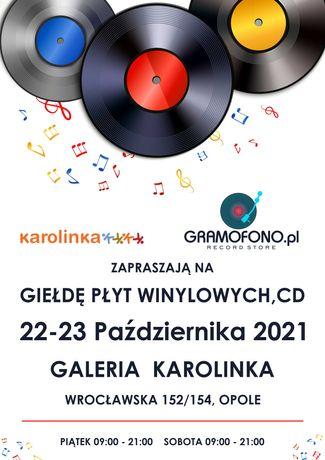 Giełda Płyt Winylowych, CD Galeria Karolinka 22-23 Października, Opole