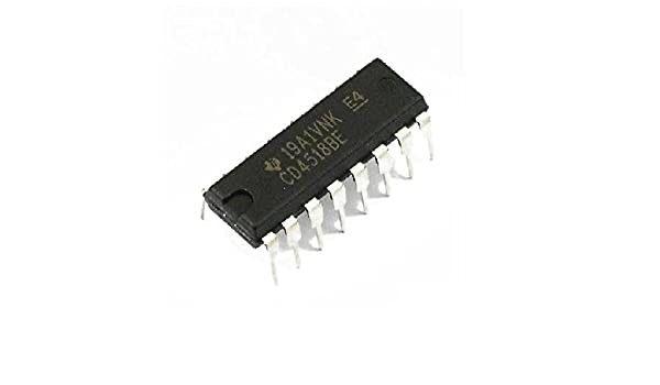 Circuitos integrados CD4510BE   CD4511BE   CD4518BE   SN74HC595N