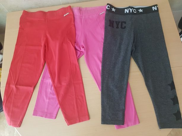 Pack de 3 leggins menina 7/ 8 anos 128cm