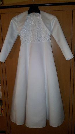 Sukienka komunijna wraz z dodatkami rozm. +/- 128