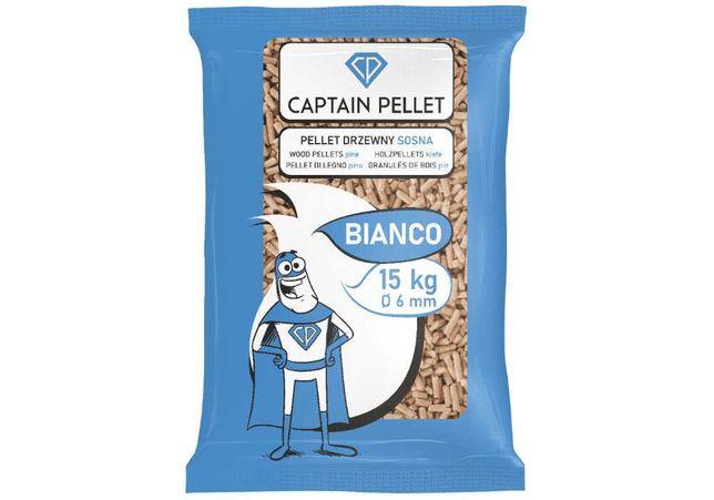 Pellet sosnowy Bianco klasa A1 jasny gwarancja jakości Captain Pellet