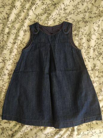 Sukienka jeansowa jak nowa 92 HM piękna