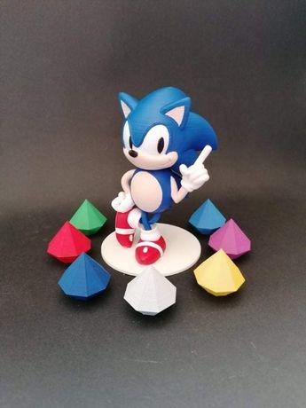 Sonic - Sega - E outras figuras de Jogos SEGA - Impressão 3D