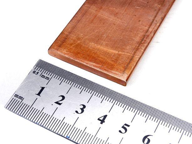 5x40 mm płaskownik miedziany miedź M1E 99,9% Cu dł. 100mm