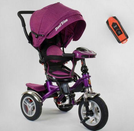 Велосипед 3-х колесный BEST TRIKE 5890 (надувные колеса, муз. фара)
