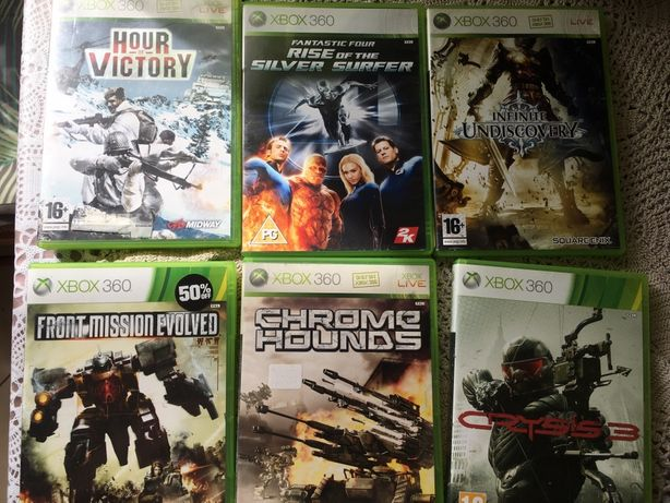 Gry xbox 360 Hour Victory, Crysis 3, chrome Hounds, Infinite Undiscove