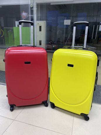 БЕЗ ПРЕДОПЛАТЫ чемодан сумка валіза пластиковый дорожный на колесах