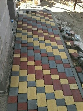 Укладка изготовление тротуарной плитки. Металоизделия. Еврозаборы