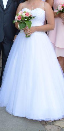 Suknia ślubna + gratis r. 38