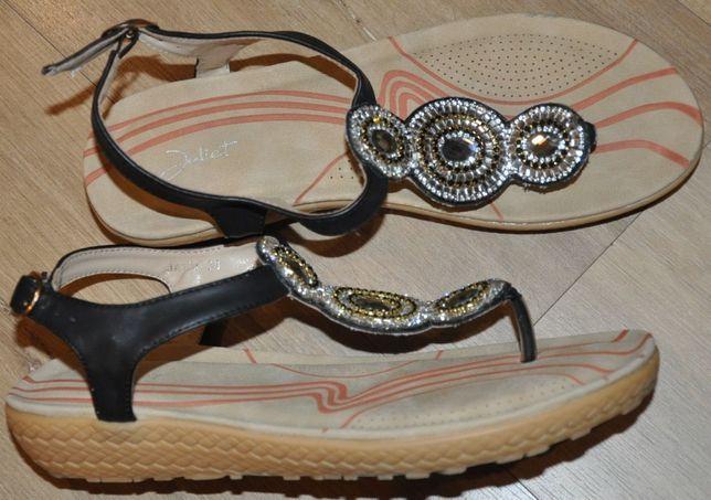 Sandały-japonki R.38 mega wygodne- J.Nowe, mięciutkie - Jak Ecco