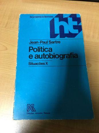 Política e Autobiografia situações X - Jean-Paul Sartre