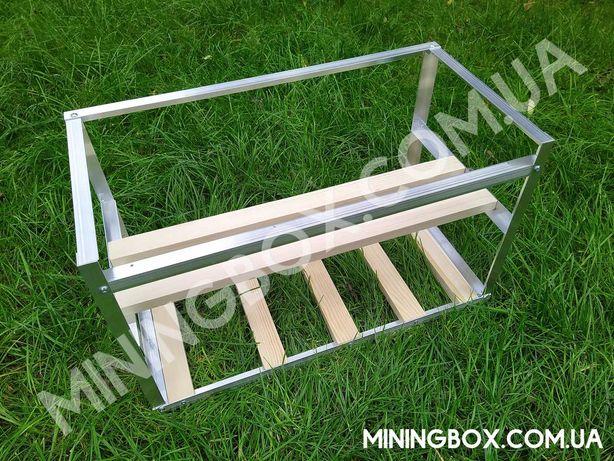 Каркас фермы 60х30х35см, для 3-4-5 видеокарт, для майнинга корпус, риг