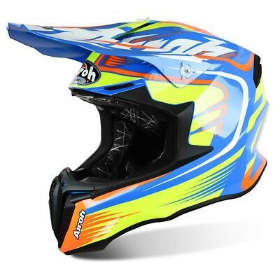Capacete Airoh Twist Aviator Mix Blue Enduro/Motocross
