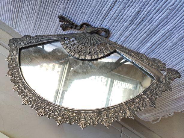 Faisão espelho decoração latão