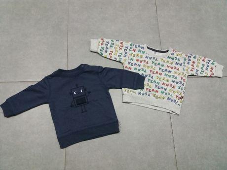 sweterki, bluzy (2szt) roz 68, cena za calosc