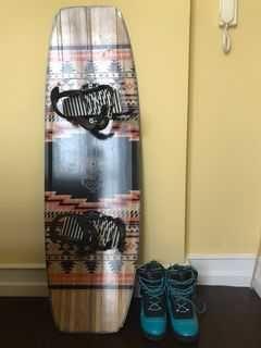 Prancha Wakeboard + Fixações + Botas / Wakeboard + Bindings + Boots