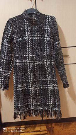 Платье зимнее твид