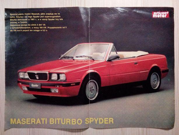 Plakat Poster Maserati Biturbo Spyder 34cm x 48cm Auto Cars Italia