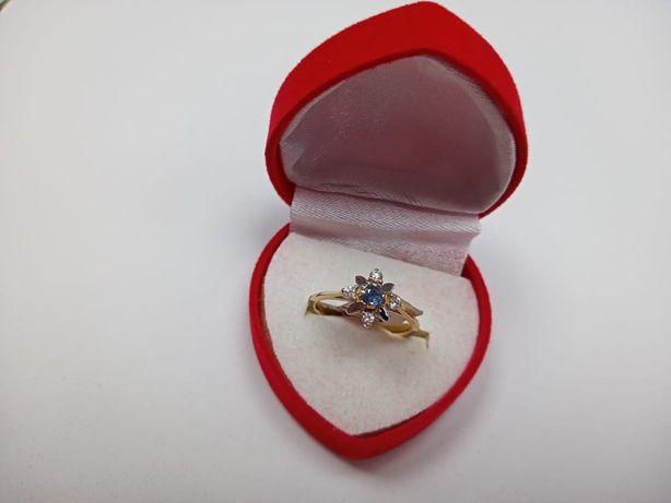 Złoty pierścionek złoto 585, rozmiar 15