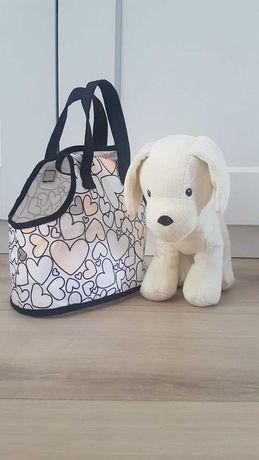 Pies pluszak w torebce do malowania