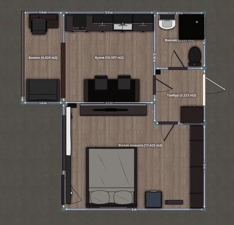 Продам 1-кімнатну квартиру в центрі. RK