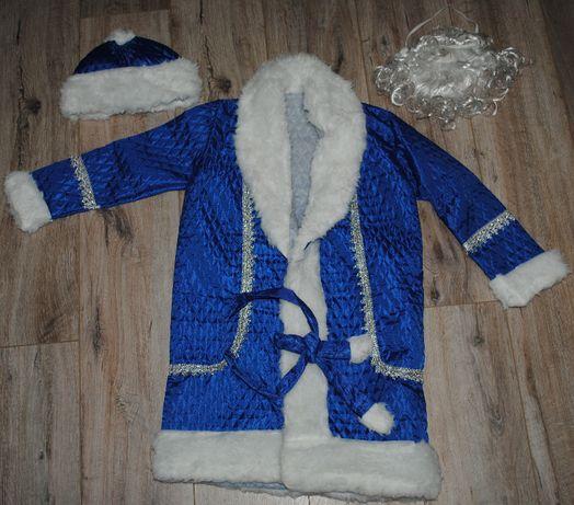 Новогодний маскарадный костюм из 4 предм Дед Мороз, Св. Николай 4-9лет